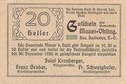 20 Heller (Mauer-Öhling) – reverse