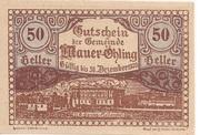 50 Heller (Mauer-Öhling) -  obverse