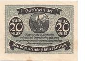 20 Heller (Mauerkirchen) – obverse