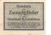 20 Heller (Mauerkirchen) – reverse