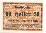 50 Heller (Mauerkirchen) -  reverse