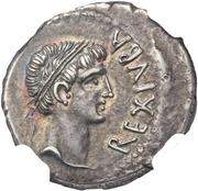 Denarius - Juba II (Cleopatra) – obverse