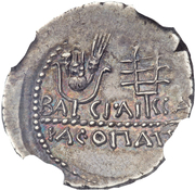 Denarius - Juba II – reverse