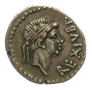 Denarius - Juba II and Cleopatra Selene – obverse