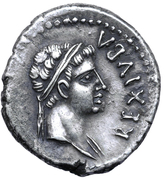Denarius - Juba II (Caesarea; without wreath) – obverse