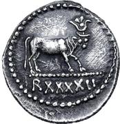 Denarius - Juba II (Caesarea) – reverse
