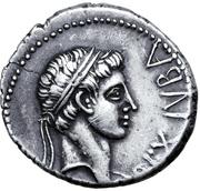 Denarius - Juba II and Cleopatra Selene (Caesarea) – obverse