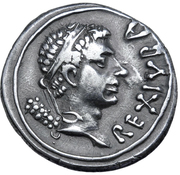 Denarius - Juba II (Caesarea) – obverse