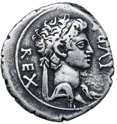 Denarius - Juba II and Cleopatra Selene (Caesarea) -  obverse