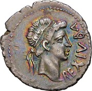Denarius - Juba II – obverse