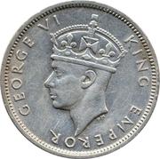 ½ Rupee - George VI – obverse