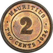 2 Cents - George V – reverse
