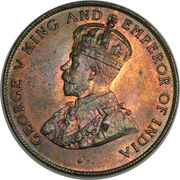 5 Cents - George V – obverse