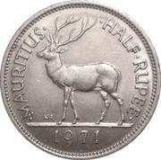½ Rupee - Elizabeth II (1st portrait) – reverse