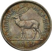 ½ Rupee - George V – reverse