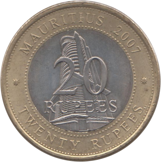 20 Rupees Bank Of Mauritius Mauritius Numista