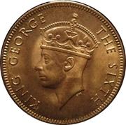 2 Cents - George VI – obverse