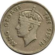 ¼ Rupee - George VI -  obverse