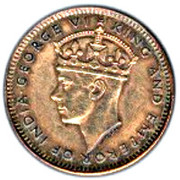 1 Cent - George VI – obverse