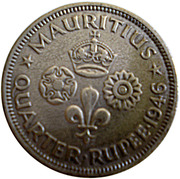 ¼ Rupee - George VI – reverse