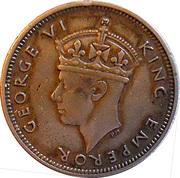 ¼ Rupee - George VI – obverse