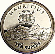 10 Rupees (Mauritius Chamber of Commerce & Industry) – obverse