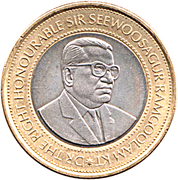 20 Rupees (Bank of Mauritius) -  obverse