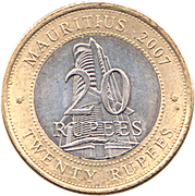 20 Rupees (Bank of Mauritius) -  reverse