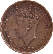 2 Cents - George VI – obverse