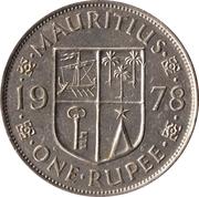 1 Rupee - Elizabeth II (1st portrait) – reverse