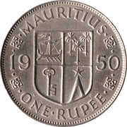 1 Rupee - George VI – reverse