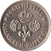 ¼ Rupee - Elizabeth II (1st portrait) -  reverse