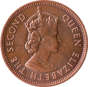 2 Cents - Elizabeth II (1st portrait) – obverse