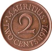 2 Cents - Elizabeth II (1st portrait) – reverse