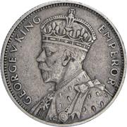 ¼ Rupee - George V – obverse