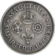 ¼ Rupee - George V – reverse