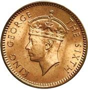 1 Cent - George VI – obverse