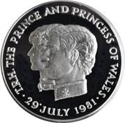 10 Rupees - Elizabeth II (Royal Wedding; Silver Proof Issue) – reverse
