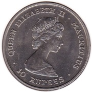 10 Rupees - Elizabeth II (Royal Wedding) – obverse