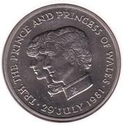 10 Rupees - Elizabeth II (Royal Wedding) – reverse