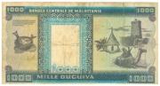 1000 Ouguiya – reverse