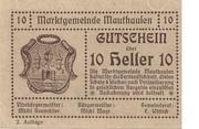 10 Heller (Mauthausen) -  obverse