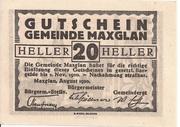 20 Heller (Maxglan) – obverse