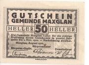 50 Heller (Maxglan) -  obverse