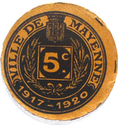 5 Centimes - Ville de Mayenne – obverse
