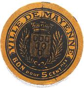 5 Centimes - Ville de Mayenne – reverse