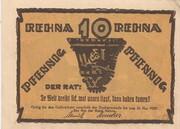 10 Pfennig (Rehna) – reverse