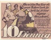 10 Pfennig (Neuhaus in Mecklenburg) – reverse