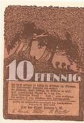 10 Pfennig (Penzlin) – reverse