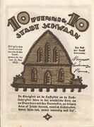 10 Pfennig (Schwaan) – reverse